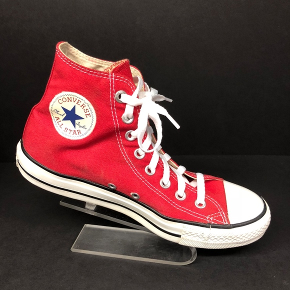 38615304e69b Converse Shoes - Converse Red Hightop Sneakers Men 7 Women 9
